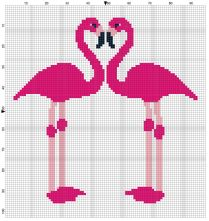 Beginner's Pink Flamingoes Counted Cross Stitch Sewing Kit